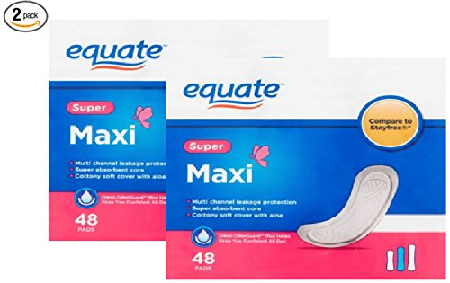 Super Multi-Channel Maxi Pads, 48ct (Pack of 2)