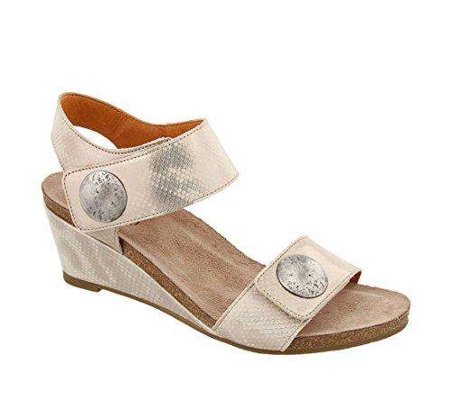 Estilo de moda para la venta Carrusel De Plata Sandalia De Cuero 2 De Las Mujeres Calzado Taos Comprar Barato Finishline Outlet en Español Recomendar barato en línea 0cUxGQ