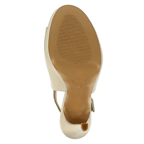 Scarpe Evita Nanda Sandalo Sandalo In Pelle Liscia Beige Chiaro