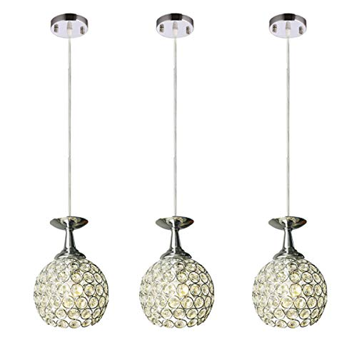 FixtureDisplays 3 Lights Ceiling Pendant Lighting Modern Chandelier for Restaurant Bar Kitchen Island Dining Room 15853