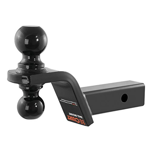 Reversible Ball Mount - CURT 45644 Reversible Trailer Hitch Ball Mount with 2-Inch and 2-5/16-Inch Trailer Hitch Balls, Fits 2-Inch Receiver, 7,500 lbs. GTW, 4-Inch Drop, 2-Inch Rise