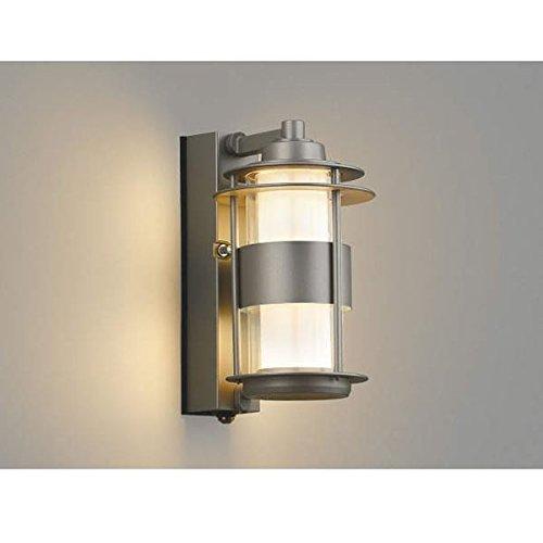 コイズミ ワンズランプ マルチタイプ AU40608L 人感センサ付 『ブラケットライト エクステリア照明 ライト』 ウォームグレー B076D23JL7