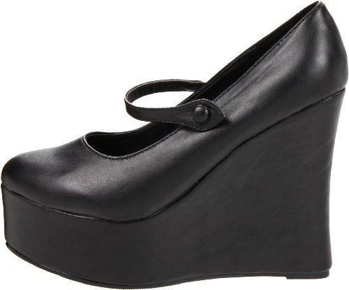 475 wedge Black Para Shoes475 mujer cuña Ellie Polyurethane Negro B574xHqn
