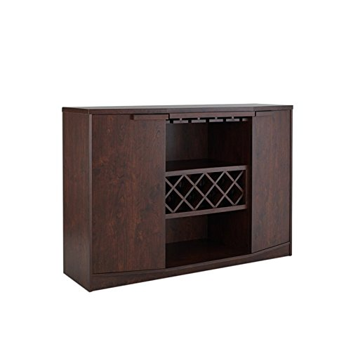 ioHOMES Annadel Wine Cabinet Buffet, Vintage Walnut (Buffet Wine Cabinet compare prices)
