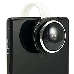First2savvv JTSJ-235-A01negro teléfono móvil 0.4x super ojo de pez–Ángulo máximo: 235- objetivo lente para VERSUS Touchpad 7Tablet PC–8GB VERSUS Touchpad 9Tablet PC–8GB VERSUS Touchtab 7V Dual Core Tablet–16GB con lápiz capacitivo