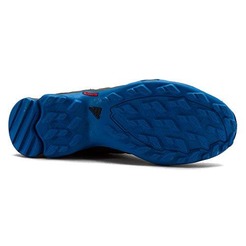 Adidas Outdoor Heren Terrex Swift R Mid Schoen Schok Blauw / Zwart / Krijt Wit