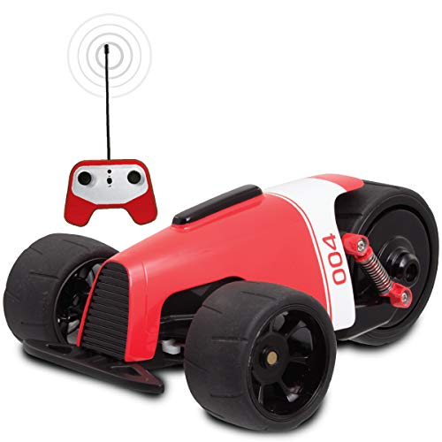 SHARPER IMAGE RC Car RED Phantom Racer Trike, Remote Control Car for Kids, 49 MHz Childrens Race Toy for Boys and Girls, Retro Tadpole Three-Wheeler Style, 360 Degree Spins, Multiplayer (Retro Style Pedal Car)