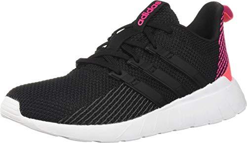 adidas Women's Questar Flow, Black/Shock red, 6.5 M US