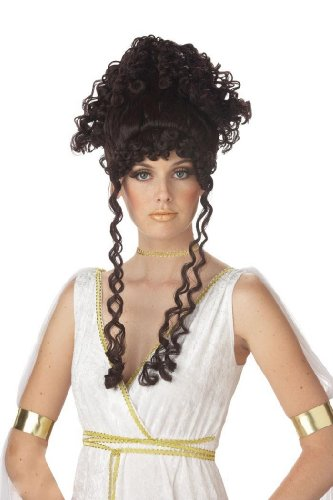 [California Costumes Athenian Goddess Wig - Brunette Brown] (Athena Greek Goddess Costume Child)
