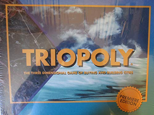 - Triopoly Premier Edition Board Game - Three Dimensional Game of Buying and Building Cities
