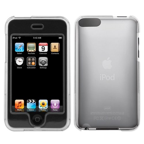Transparent Clear Snap On Crystal Hard Cover Case for Apple Ipod Touch Itouch 8GB 16GB 32GB 2G 2nd Generation - Ipod Button 1st Generation Touch