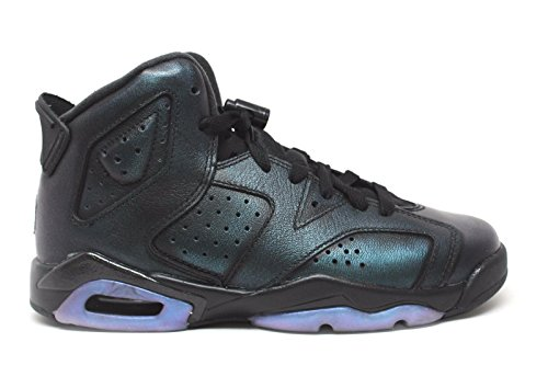 Nike Jordan Kids Air Jordan 6 Retro AS BG Black/Black White Basketball Shoe 4.5 Kids US by Jordan