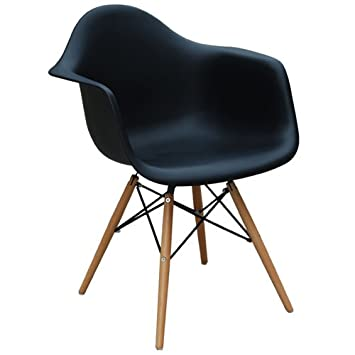 DAW Chair / Eames Stuhl / Plastic Side Chair / Eames Chair / Schwarz