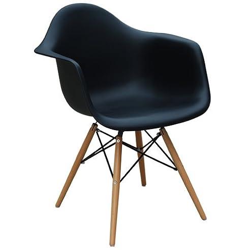 DAW Chair / Eames Stuhl / Plastic Side Chair / Eames Chair / Schwarz