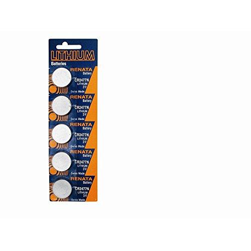 Top 10 Jewelry Gift Pkg/5 Type CR2477N Renata Swiss Lithium Batteries