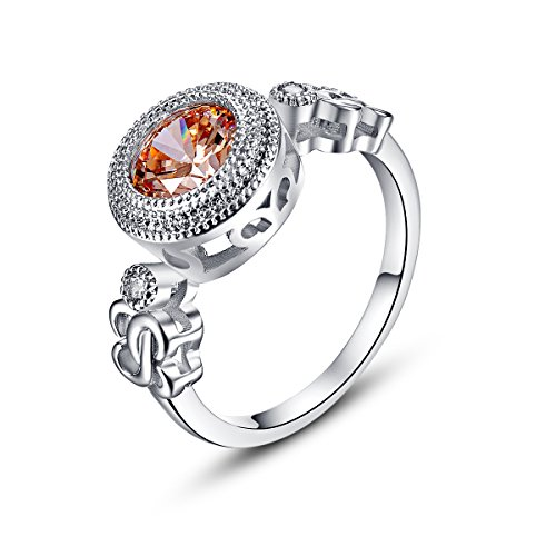 Psiroy 925 Sterling Silver Created Morganite Filled Millgrain Edged Solitaire (Wholesale Sterling Silver Engraving)