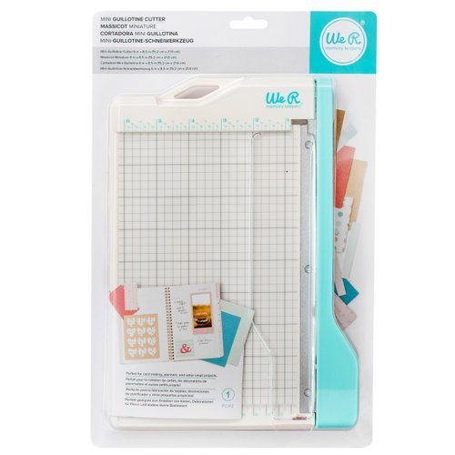 We R Memory Keepers 660093 Mini Guillotine Paper Cutter, Multicolor