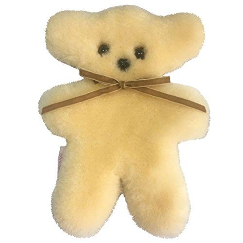 100 australian soft sheepskin flat teddy bear in cream for children