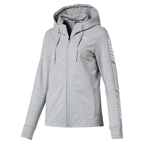 da Grey donna Light Felpa Hooded con Puma Sports cappuccio Modern dABBnz