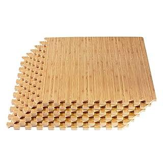 "Forest Floor 3/8"" Thick Printed Wood Grain Interlocking Foam Floor Mats, 200 Sq Ft (50 Tiles), Light Bamboo (B017C21ZJS) | Amazon price tracker / tracking, Amazon price history charts, Amazon price watches, Amazon price drop alerts"