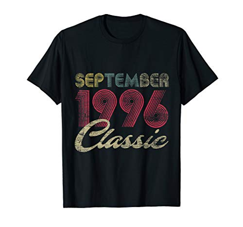 Classic September 1996 Bday Men Women Gifts 23rd Birthday T-Shirt