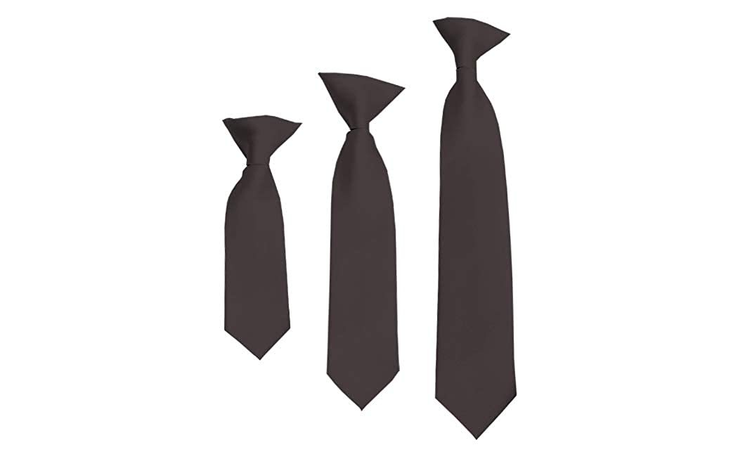 Solid Charcoal Gray Boys 14 Clip On Tie