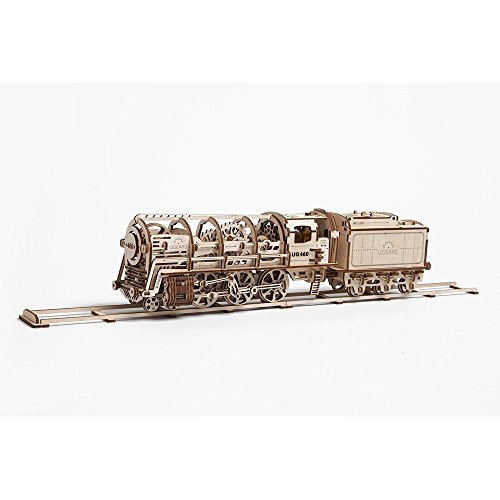 "Locomotive Train with tender «UGEARS 460"" Mechanical 3D P..."