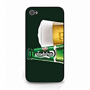 Carlsberg Hard Plastic Black Cover, Carlsberg iPhone 4/iPhone 4S, Carlsberg Phone Funda