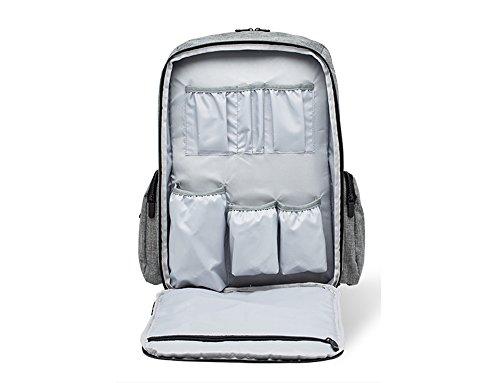 Bolso de la momia, hombro multi-funcional de gran capacidad de mochila, para ser producido paquete, paquete de embarazadas, la madre y el bebé bolsa, salir bolsa de la madre ( Color : Rojo ) Gris