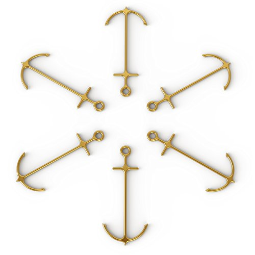 Fred ANCHORED Stainless Steel Cocktail Picks, Set of 6, Gold by Fred & Friends (Image #3)