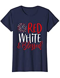 241be7d2 Red White & Blessed Shirt 4th of July Cute Patriotic America T-Shirt