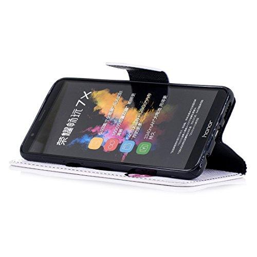 fermeture d'impression peint de cuir pour Flip magnétique fente carte Hozor Shy en Honor cas portefeuille PU en 7X protection aérosol avec Play panda support avec étui conception Huawei xqOzYa