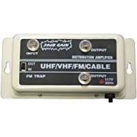 VHF/UHF/FM/HDTV Signal Distribution Amplifier Booster Antenna With Gain Control Switch 20dB KF-238 MIYAKO USA