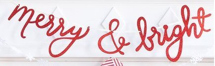 Bright Merry Glitter (My Mind's Eye HYP409 Holiday Merry & Bright Red Glitter Chipboard Banner, 3 Feet Long)