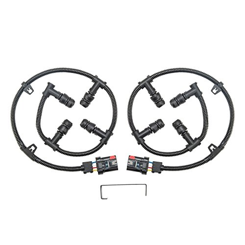 Orion Motor Tech 6.0 Glow Plug Connector Wire Harness Complete Kit with Removal Tool, Compatible with 2004-2010 Ford 6.0L V8 Powerstroke, Ford F-250 F-350 F-450 Super Duty Excursion E-350 E-450