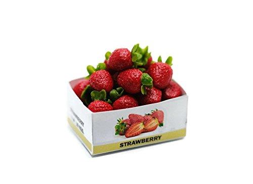 ChangThai Design Strawberry Fruit Handcraft Dollhouse Miniature Handmade Food Supply