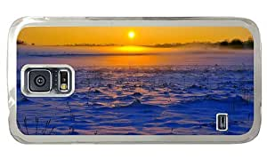 Hipster Samsung Galaxy S5 Case best covers winter sunset landscape PC Transparent for Samsung S5
