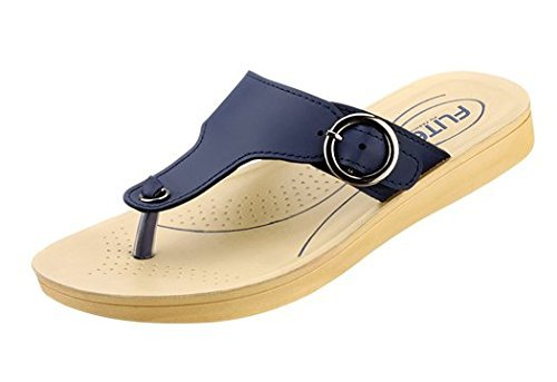 Relaxo Flite Women's Red Sandals (PUL-61) Fashion Sandals at amazon