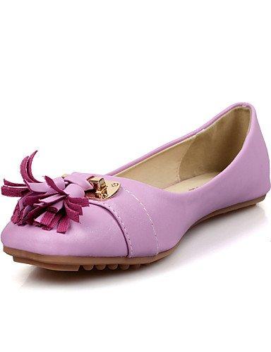 Plat 5 Talon Décontracté Eu37 Uk4 Cn37 5 En Chaussures Violet Pdx Rond Purple Bout 7 blanc Appartements Similicuir us6 5 femme zwIXnaxnqH