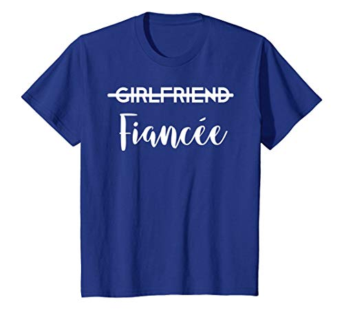 Girlfriend Fiancee T-Shirt Engagement Tee Couples Gift Her