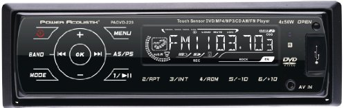 Power Acoustik PADVD-220 Single DIN size In-Dash DVD/CD/MP3/DivX Player with USB & SD card inputs