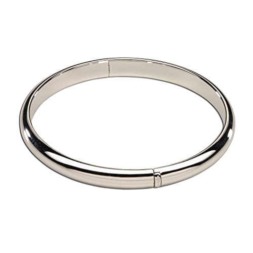 (Children's Sterling Silver Bangle Bracelet for Girls (6-12 years))