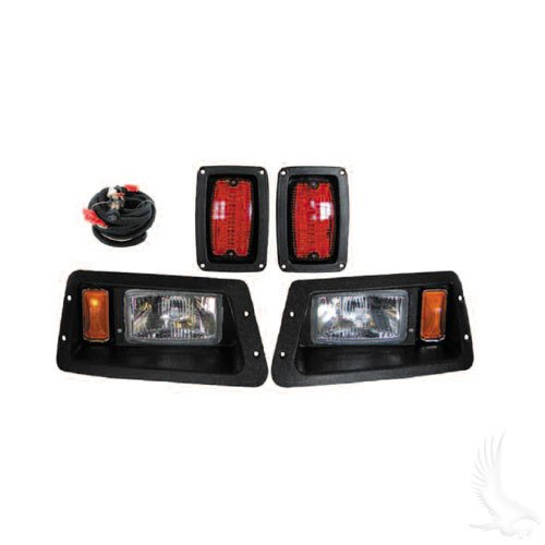 Yamaha G14-G22 Complete Adjustable Light Kit, Halogen Bulbs, Black (incl wiring harness)