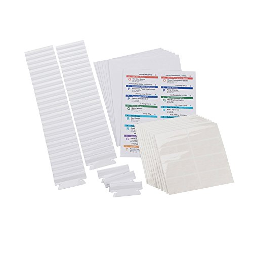 Smead 64910 Viewables Hanging Folder Tabs And Labels  Refill  3 1 2 Inch  Assorted  Pack Of 100