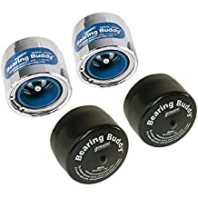 """Bearing Buddy Chrome Bearing Protectors with Auto Check With Bras - Pair - 1.980"""" Diameter"""