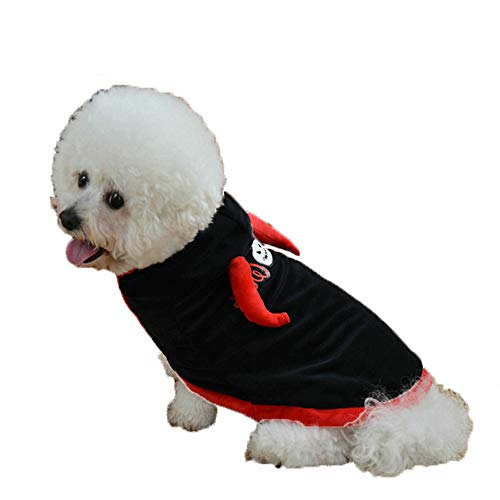 Halloween Dog Clothes Cloak,Alalaso Woodland Camouflage Cotton Hoodied Sweatshirts Dog Clothes Pet Clothing (M, Black) ()