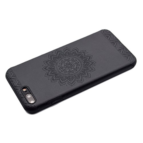 "inShang iPhone 6 Plus iPhone 6S Plus 5.5"" Funda y Carcasa para iPhone 6 Plus iPhone 6S Plus 5.5 inch case iPhone 6+ iPhone 6S+ 5.5 inch móvil, Ultra delgado y ligero Material de TPU, carcasa posterior Black printing"