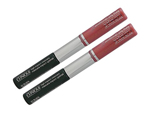 Clinique High Impact Mascara - 01 Black + Long Last Glosswear - 07 Bonfire (Duo Pack) (Gloss Duo Pack)