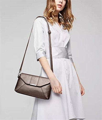 donna spalla La Fashion Solo 27x16x6cm e copricapo Sjmmbb la nere cachi borsa da nOZBpxx