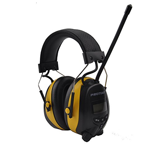 protear-radio-ear-defenders-hearing-protector-safety-earmuffs-with-am-fm-radio-mp3-compatible-electr